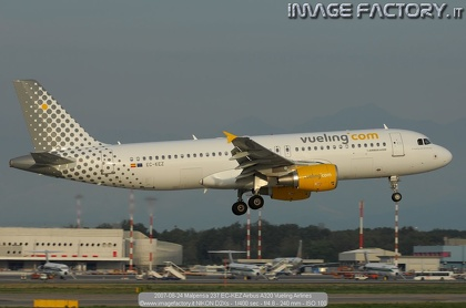2007-08-24 Malpensa 237 EC-KEZ Airbus A320 Vueling Airlines