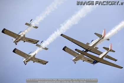 2019-10-12 Linate Airshow 02529 Blue Voltige - Motoalianti Fournier - We Fly - Fournier RF-5 Fly Synthesis