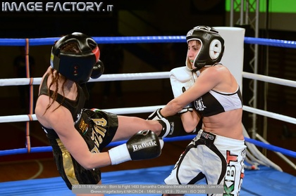 2013-11-16 Vigevano - Born to Fight 1493 Samantha Celestino-Beatrice Porcheddu - Low Kick