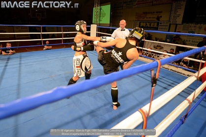 2013-11-16 Vigevano - Born to Fight 1569 Samantha Celestino-Beatrice Porcheddu - Low Kick