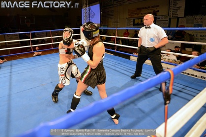 2013-11-16 Vigevano - Born to Fight 1571 Samantha Celestino-Beatrice Porcheddu - Low Kick