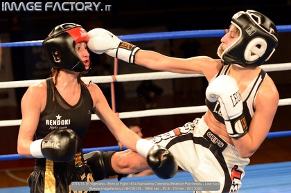 2013-11-16 Vigevano - Born to Fight 1614 Samantha Celestino-Beatrice Porcheddu - Low Kick