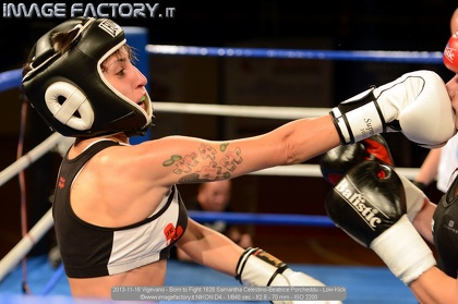 2013-11-16 Vigevano - Born to Fight 1628 Samantha Celestino-Beatrice Porcheddu - Low Kick