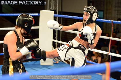 2013-11-16 Vigevano - Born to Fight 1649 Samantha Celestino-Beatrice Porcheddu - Low Kick