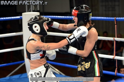 2013-11-16 Vigevano - Born to Fight 1716 Samantha Celestino-Beatrice Porcheddu - Low Kick