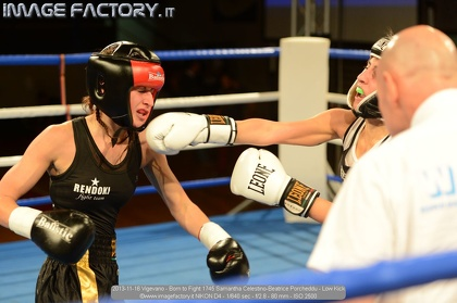 2013-11-16 Vigevano - Born to Fight 1745 Samantha Celestino-Beatrice Porcheddu - Low Kick