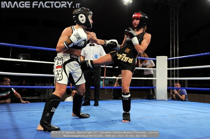 2013-11-16 Vigevano - Born to Fight 1817  Samantha Celestino-Beatrice Porcheddu - Low Kick