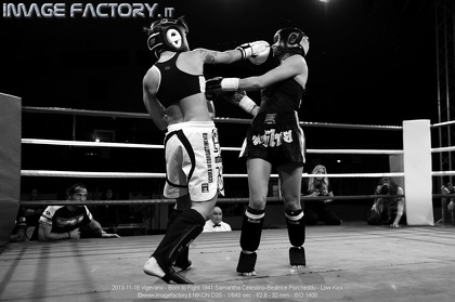 2013-11-16 Vigevano - Born to Fight 1841 Samantha Celestino-Beatrice Porcheddu - Low Kick