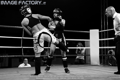 2013-11-16 Vigevano - Born to Fight 1866 Samantha Celestino-Beatrice Porcheddu - Low Kick