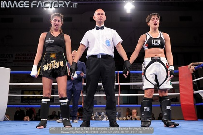 2013-11-16 Vigevano - Born to Fight 1891 Samantha Celestino-Beatrice Porcheddu - Low Kick