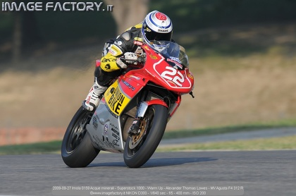 2009-09-27 Imola 0159 Acque minerali - Superstock 1000 - Warm Up - Alexander Thomas Lowes - MV Agusta F4 312 R