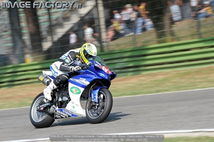 2009-09-27 Imola 2109 Acque minerali - Superstock 1000 - Race - Danilo Andric - Yamaha YZF R1