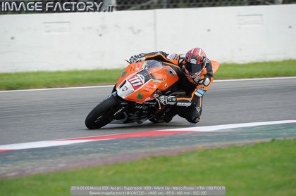 2010-05-09 Monza 0001 Ascari - Superstock 1000 - Warm Up - Marco Rosini - KTM 1190 RC8 R